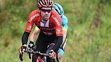 Le Néerlandais Tom Dumoulin lors de la 2e étape du Critérium du Dauphiné, le 10 juin 2019 à Craponne-sur-Arzon (Haute-Loire)