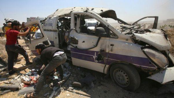 Syrie: 20 civils tués dans des frappes du régime sur la région d'Idleb
