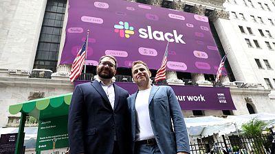 Slack stock surges at debut, values company at more than $25 billion