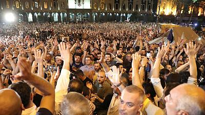 Georgians angry over Russian lawmaker's visit try to storm parliament