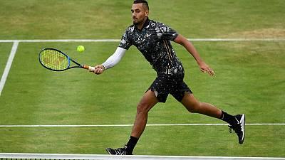 Kyrgios blasts officials after 'rigging' rant at Queen's