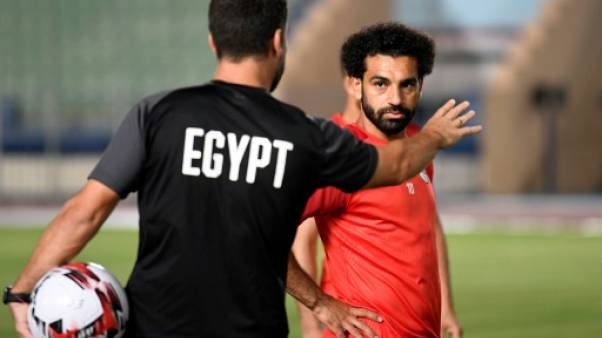Mohamed Salah, attaquant et superstar de l'Egypte, le 19 juin 2019 au Caire