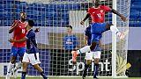 L'attaquant costaricien Mayron George buteur lors du match de phase de groupes de la Gold Cup face aux Bermudes, à Frisco au Texas, le 20 juin 2019