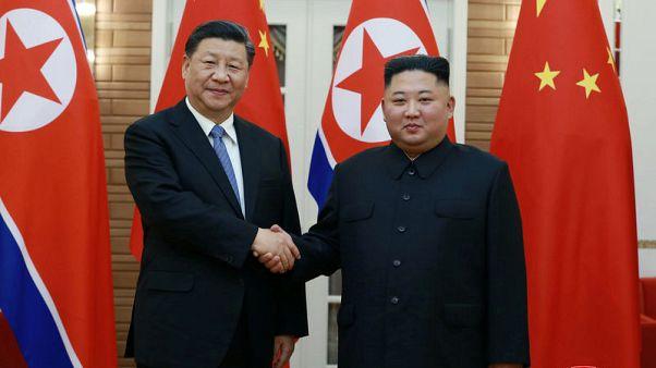 استقبال حافل للرئيس الصيني في كوريا الشمالية