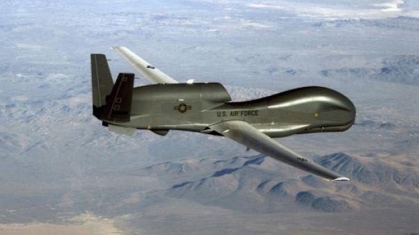 Photo non datée diffusée le 20 juin 2019 par l'US Air Force d'un drone RQ-4 Global Hawk
