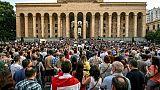 Des milliers de manifestants devant le Parlement géorgien à Tbilissi, le 21 juin 2019