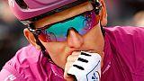 Le Français Arnaud Démare (Groupama-FDJ) avant le départ de la 7e étape du Giro, le 29 mai 2019 à Anterselva