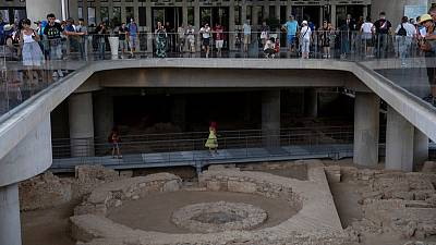 Acropolis Museum opens ancient Athens neighbourhood site below its base