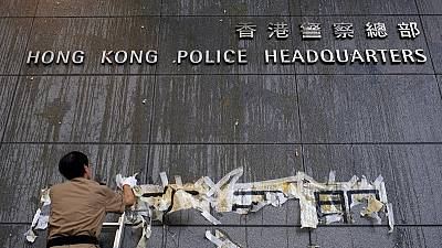 HK protesters disperse after blockading police headquarters