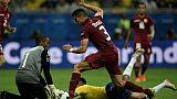 La défense du Venezuela, orchestrée autour de son gardien Wuilker Farinez et du défenseur Yordan Osorio, a muselé les attaquants du Brésil, le 18 juin 2019 à Salvador