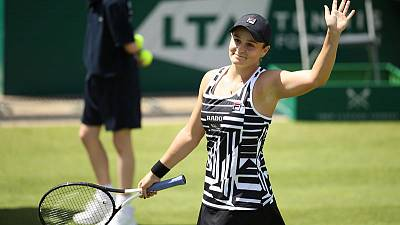 Barty overpowers Strycova to set up Birmingham final with Goerges