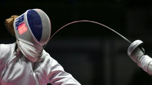 La Française Auriane Mallo (g) lors des JO de Rio le 6 août 2016