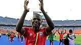 L'attaquant de l'Ouganda Patrick Kaddu buteur lors de la victoire 2-0 sur la RDC lors de la CAN le 22 juin 2019