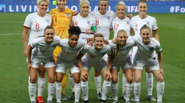 L'équipe d'Angleterre lors du match du Mondial face au Japon le 19 juin 2019