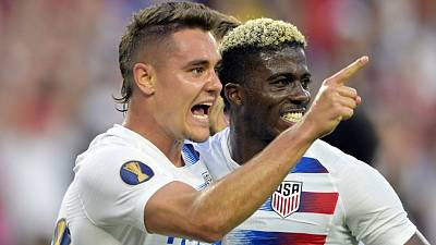 U.S. thump Trinidad and Tobago 6-0 to reach Gold Cup quarters