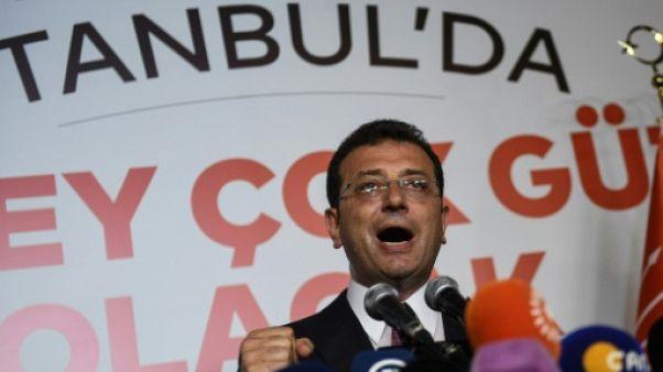 Ekrem Imamoglu après l'annonce de sa victoire, à Istanbul le 23 juin 2019