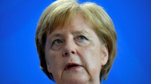 La chancelière allemande Angela Merkel, à Berlin le 18 juin 2019