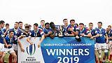 Les Français vainqueurs des Australiens conservent leur titre de champions du monde lors du Mondial le 22 juin 2019