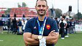 Le manager de la France Sébastien Piqueronies lors de la victoire en finale du Mondial U20 le 22 juin 2019