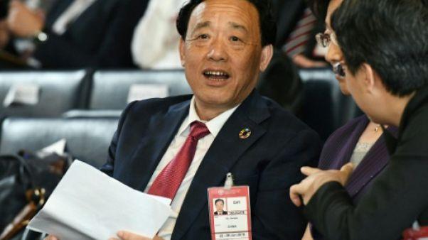 Le candidat chinois au poste de directeur général de la FAO, Qu Dongyu, le 22 juin 2019 à Rome