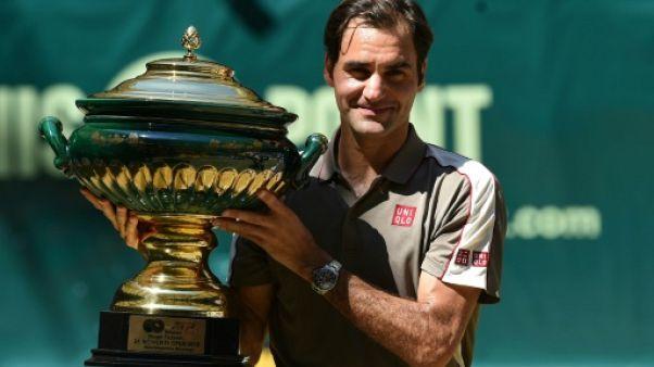 Le Suisse Roger Federer remporte le tournoi de Halle le 23 juin 2019