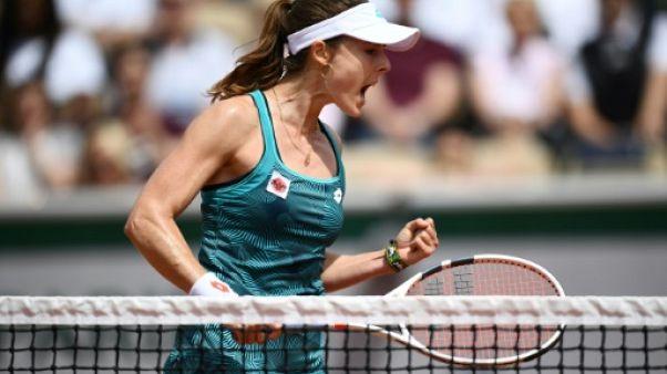 La Française Alizé Cornet lors du premier tour de Roland-Garros le 27 mai 2019