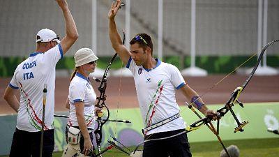 Giochi Europei: Italia oro Arco Misto