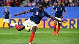 Viviane Asseyi avec les Bleues contre le Nigeria pour le dernier match de poule, le 17 juin 2019 au Roazhon Park à Rennes