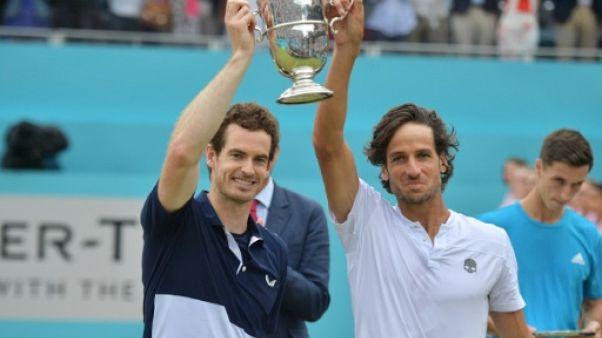 Andy Murray et Feliciano Lopez sacrés en double lors du tournoi du Queen's, le 23 juin 2019