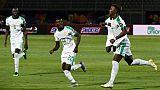 Le Sénégal, lancé par Keita Baldé (d), a facilement dominé la Tanzanie, pour son entrée dans la CAN, le 23 juin 2019 au Caire