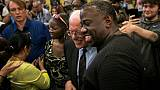 Le candidat à la Maison Blanche Bernie Sanders salue des supporteurs après un discours à Rock Hill, en Caroline du Sud, le 23 juin 2019