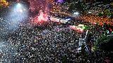 La foule rassemblée à Istanbul pour célébrer la victoire d'Ekrem Imamoglu, le 23 juin 2019