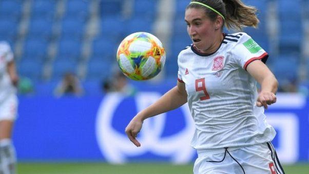 L'Espagne de Mariona Caldentey a terminé la phase de groupes sur un match nul face à la Chine, le 17 juin 2019 au Havre