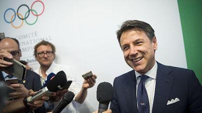 """Giochi 2026, Conte """"Italia è compatta"""""""