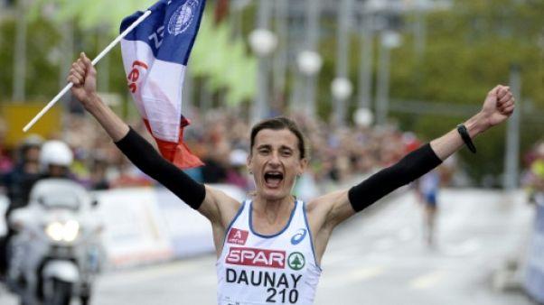 La Française Christelle Daunay sacrée championne d'Europe de marathon à Zurich le 16 août 2014