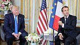 Les présidents américain Donald Trump et français Emmanuel Macron, le 6 juin 2019 à Caen (France)