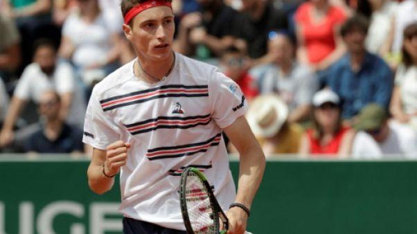 Le Français Ugo Humbert au premier tour de Roland-Garros le 26 mai 2019