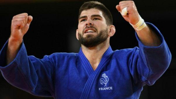 Le Français Cyrille Maret lors médaille de bronze aux JO de Rio en -100 kg le 17 aooût 2016