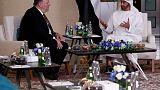 بومبيو يلتقي بولي عهد أبوظبي ويبحث معه إيران