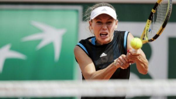 La Danoise Caroline Wozniacki lors du premier tour de Roland Garros le 27 mai 2019