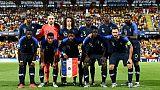 L'équipe de France des -21 ans lors du match nul 0-0 face à l'Espagne à Cesena le 24 juin 2019