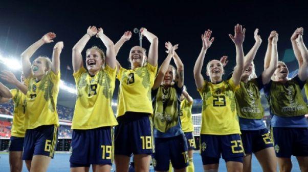 Les Suédoises éliminent les Canadiennes 1-0 lors du Mondial au Parc des Princes le 24 juin 2019