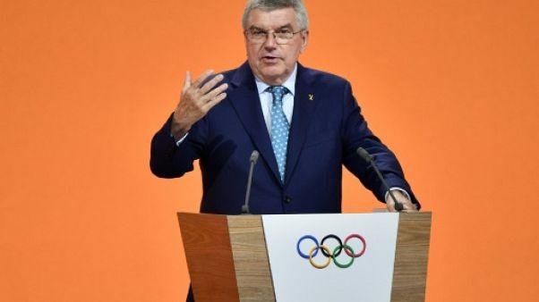 Le président du Comité international olympique (CIO), Thomas Bach, lors d'un discours à Lausanne, le 24 juin 2019
