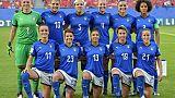 Les Italiennes avant le match de phase de groupes du Mondial face aux Brésiliennes, à Valenciennes, le 18 juin 2019
