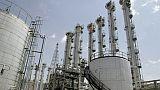Photo de l'usine de production d'eau lourde d'Arak, dans le centre de l'Iran, prise le 26 août 2006
