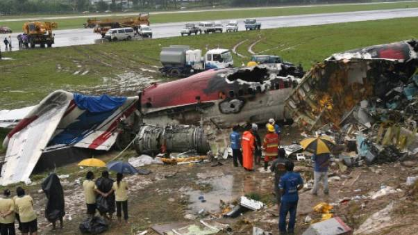 Le site du crash de l'avion de la compagnie One-Two-Go, le 17 septembre 2007 à Phuket en Thaïlande