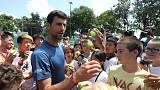 Djokovic impresses as gets back in grasscourt groove