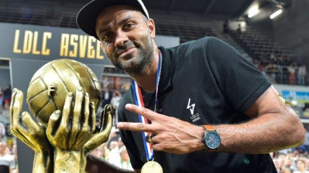 L'ASVEL de Tony Parker championne de France après la victoire sur Monaco 66-55 à l'Astroballe le 25 juin 2019