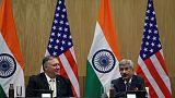 بومبيو يعد بتعاون وثيق مع الهند لكن قضايا التجارة والدفاع معلقة