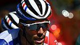 Le Français Thibaut Pinot lors de la 8e et dernière étape du Critérium du Dauphiné, entre Cluses et Champéry, le 16 juin 2019